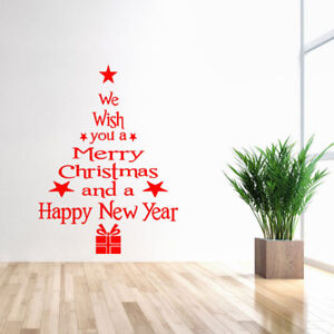 Christmas Wall Decals Removable.Removable 3d Vinyl Wall Sticker Christmas Tree Window For