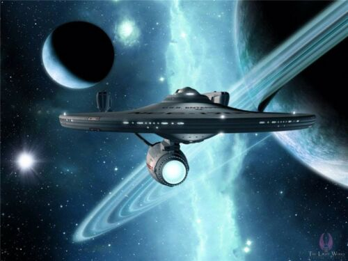 """Star Trek Outer Space Movie Game Art Fabric Wall Poster 17/""""x13/""""  004"""