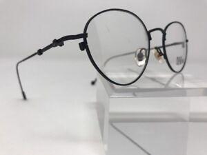 Eye-Looks-Black-Demo-Lens-Eyeglasses-FRAME-METAL-ROUND-SPECS-49-20-145-I203