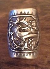 Antique Vintage Chinese FIGURAL Sterling Silver Ring