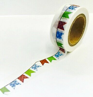 Santa Holiday Icons Washi Tape Papercraft Planner Supply Cards Envelope X-mas