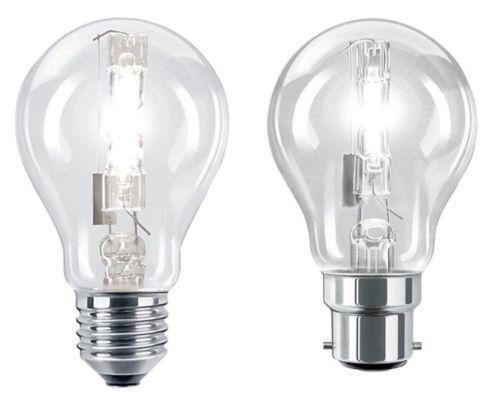 Eveready ECO Halogen Dimmable GLS Bulbs BC ES 33w = 40w 80w = 100w 48w = 60w