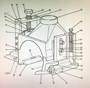 Wadkin-Mouleur-Pivot-Support-Haut-Brise-Copeaux-OEM-Authentique-Pieces-GA170