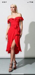 NWT-375-Jay-Godfrey-red-ruffled-sexy-midi-wrap-cocktail-party-dress-size-2-xs