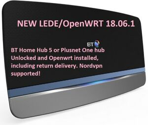 Details about LEDE OpenWRT BT Home Hub 5 Plusnet one vpn router unlock  installation service