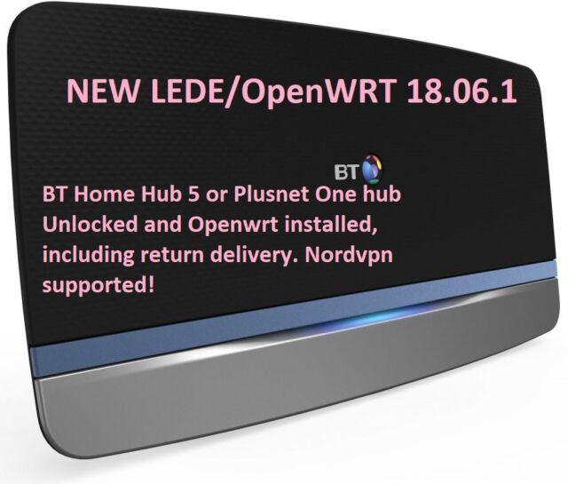 LEDE OpenWRT BT Home Hub 5 Plusnet one vpn router unlock installation service