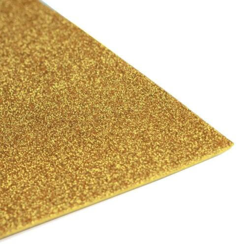 """Gold Glitter 12/""""x20/"""" 10 Pack EVA Foam Sheets Arts and Crafts 2MM Sewing DIY"""