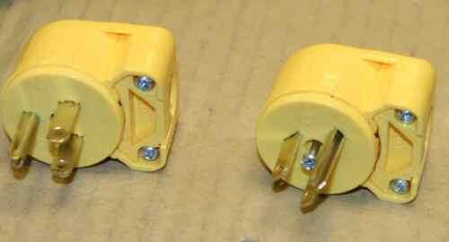 Electrical male plug 90 degree adjustable angle positions qty 2 for 1 price UL