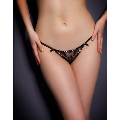 AGENT PROVOCATEUR CAISEY THONG BLACK SIZE XLARGE / A5 / 14-16 BNWT