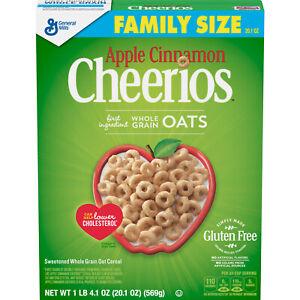 General Mills, Cheerios Apple Cinnamon Cereal, Gluten Free ...