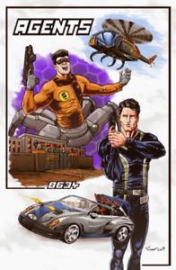 Original LEGO Art Agents 8634 Mission 5: Turbocar Chase 11 ...