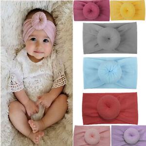 Enfant-fille-bebe-enfant-en-bas-age-Turban-noue-bandeau-cheveux-bande-accessoire