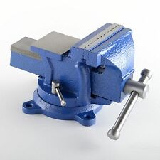 "5"" Bench Vise Clamp Tabletop Vises Swivel Locking Base Work Bench Top Cast Iron"
