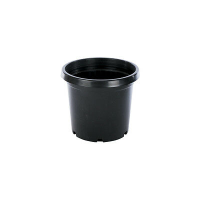 BLACK GARDEN POT 200MM 4.5L X10