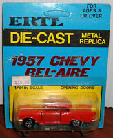 1957 Chevy Bel Aire Ertl Die Cast Metal Replica Mint Nip Perfect 1/64 1636