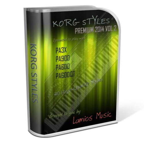 Korg Styles Premium 2014 Vol2 for Korg PA300 PA600//QT PA900 PA3X PA4X 40 Styles