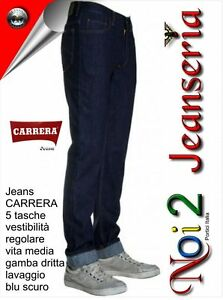 Carrera-Jeans-Mod-700-Blu-Scuro-Bombastic-Zip-Front-15-Oz-Misure-da-46-a-62