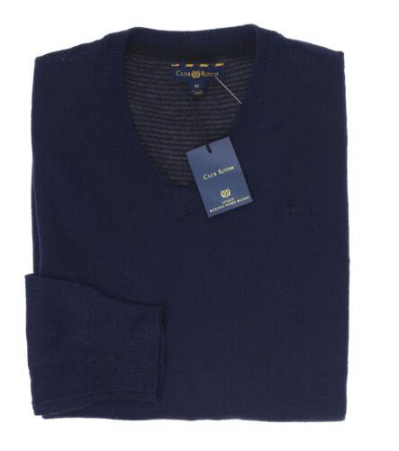 Club Room Mens New $75 Merino Wool Blend V-Neck Sweater Shirt S M L XL 2XL 3XL