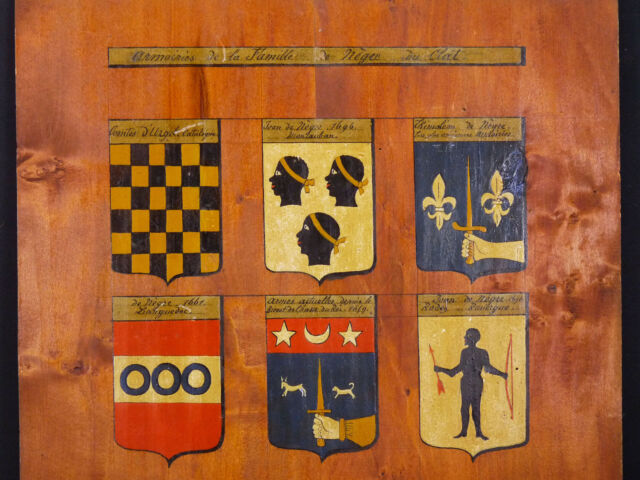 Arms of the Family Negro of Clat Hsp XIX ° Th Aude Bordeaux Stemma) Wappen