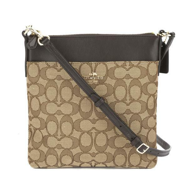 a4d44ac62896 Coach Signature North south Swingpack 52576 Crossbody Bag Light Brown for  sale online