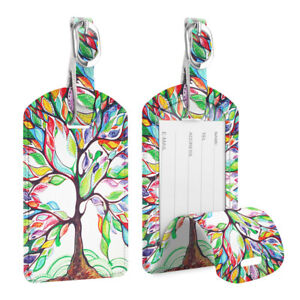 2-Pack-Luggage-Tags-Name-Card-Holder-Travel-Bag-Suitcase-Backpack-Labels