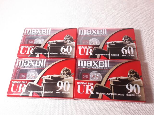 Lot Maxell UR 60, 90 Minute Blank Audio Cassette Tapes Normal Bias New Sealed
