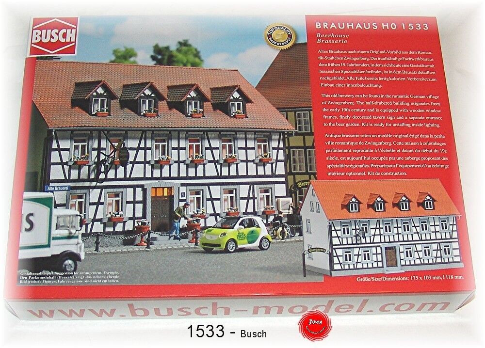 Busch Ho 1533  Brauhaus Kit de Montage   Neuf Emballage D'Origine    2018 magasin