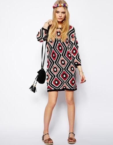 ASOS Patchwork Crochet Granny Square Dress - image 1