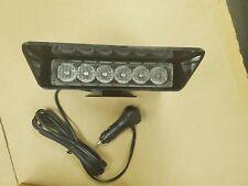 Code 3 Warrior Warning Light Wa6 Led Light Withvisor Blueblue Nib Nwt
