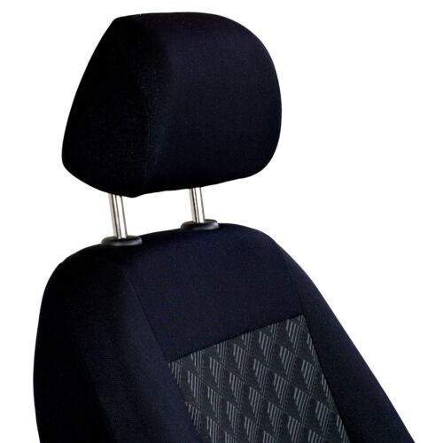 Efecto negro 3d fundas para asientos para nissan x trail asiento del coche delante de referencia