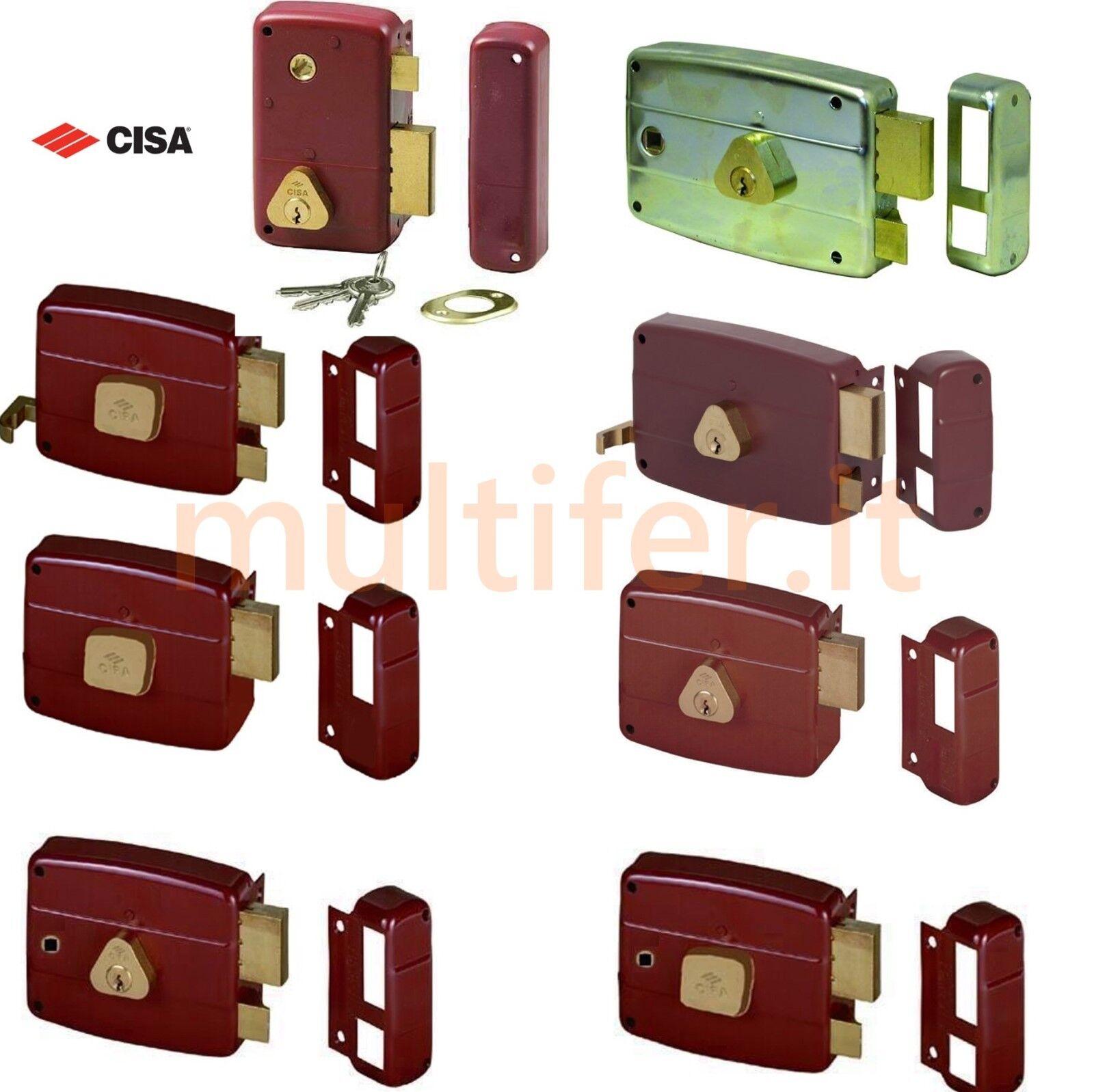 Entrata Destra per Porte Legno 70 mm Cisa 50131 Serratura da Applicare
