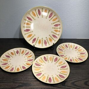 Pepe by Red Wing Pottery Set of 4 Plates 1) Dinner & 3) Salad plates  1962-1963