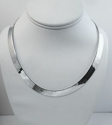 16 inch Herringbone Necklace 3.5mm,4.5mm,5.5mm,7mm,9mm,11mm Sterling Silver .925