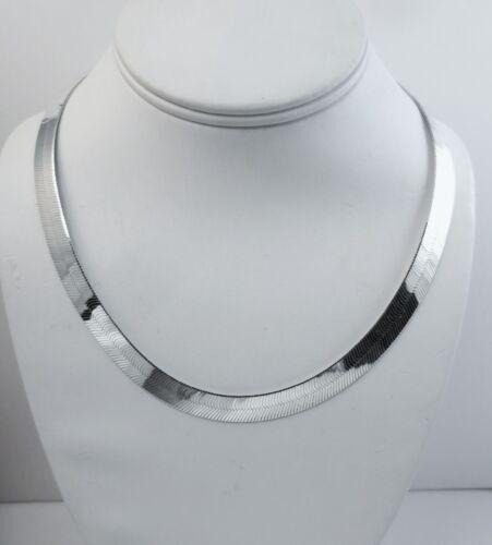 20 in environ 50.80 cm 3.5 mm à 16 mm Argent sterling Herringbone Collier .925 italien chaîne.