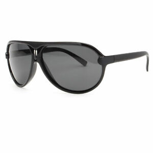 80s Men Polarized Retro Vintage Classic Fashion Aviator Sunglasses Black Black