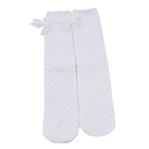 Kid Girl Fashion Cute Solid Color Butterfly Knot Cute High Knee Long Socks N7