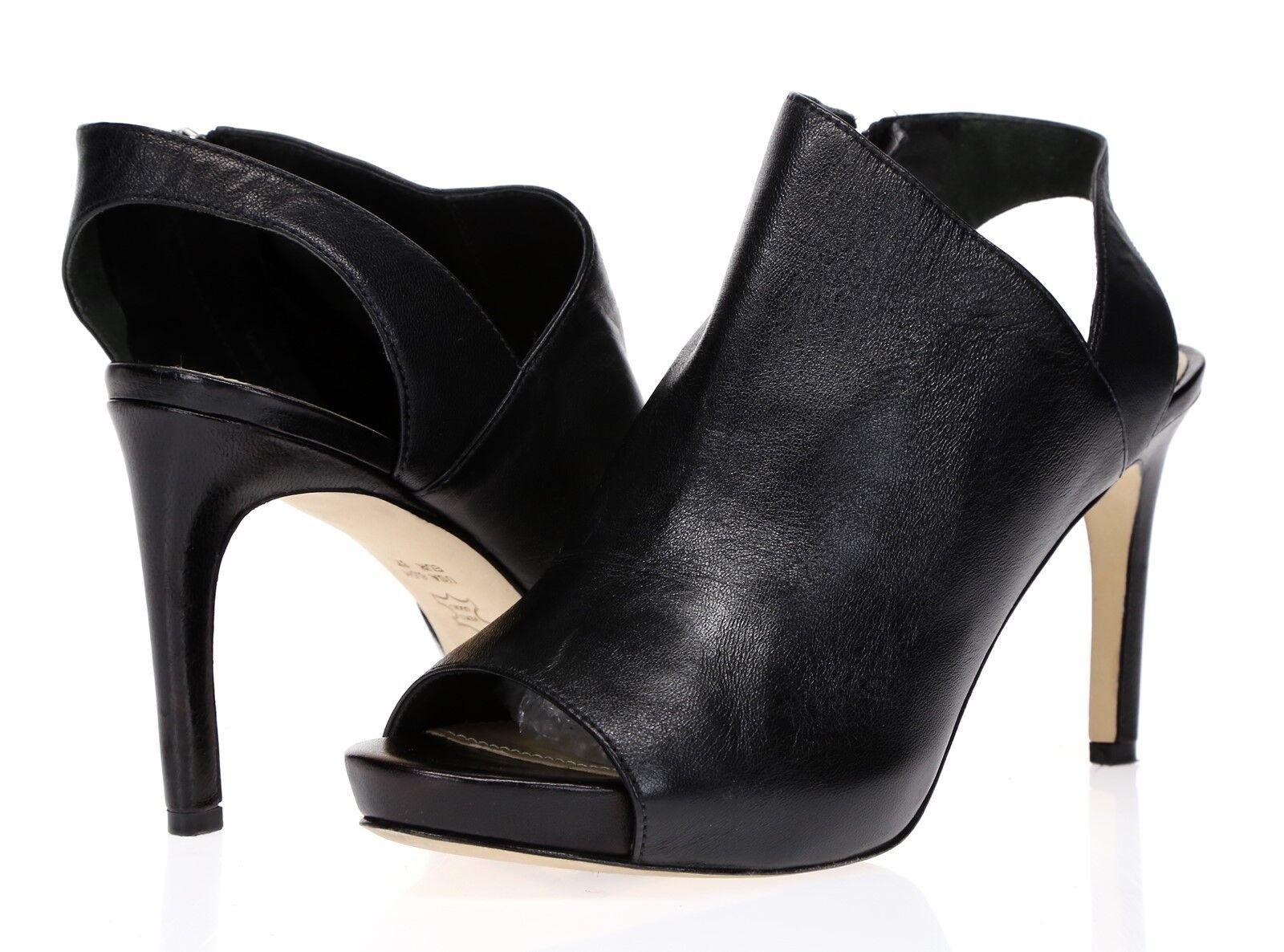 VIA SPIGA Womens Black Leather Slingback Heels Sandals Sz 6.5