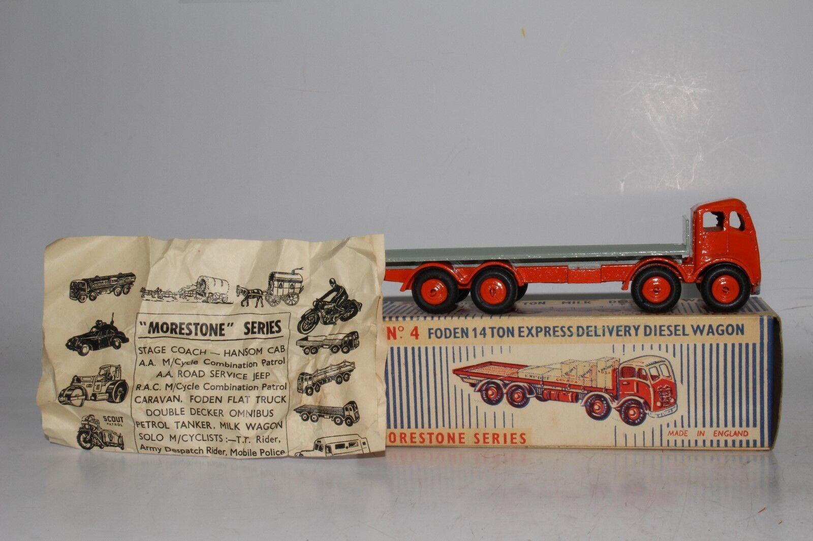Década de 1950 Morestone Foden Diesel camión de reparto que Con Caja Orignal, agradable Original