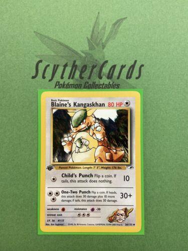 NM Blaine's Kangaskhan 1st Edition Gym Heroes Uncommon Pokemon Card 36//132