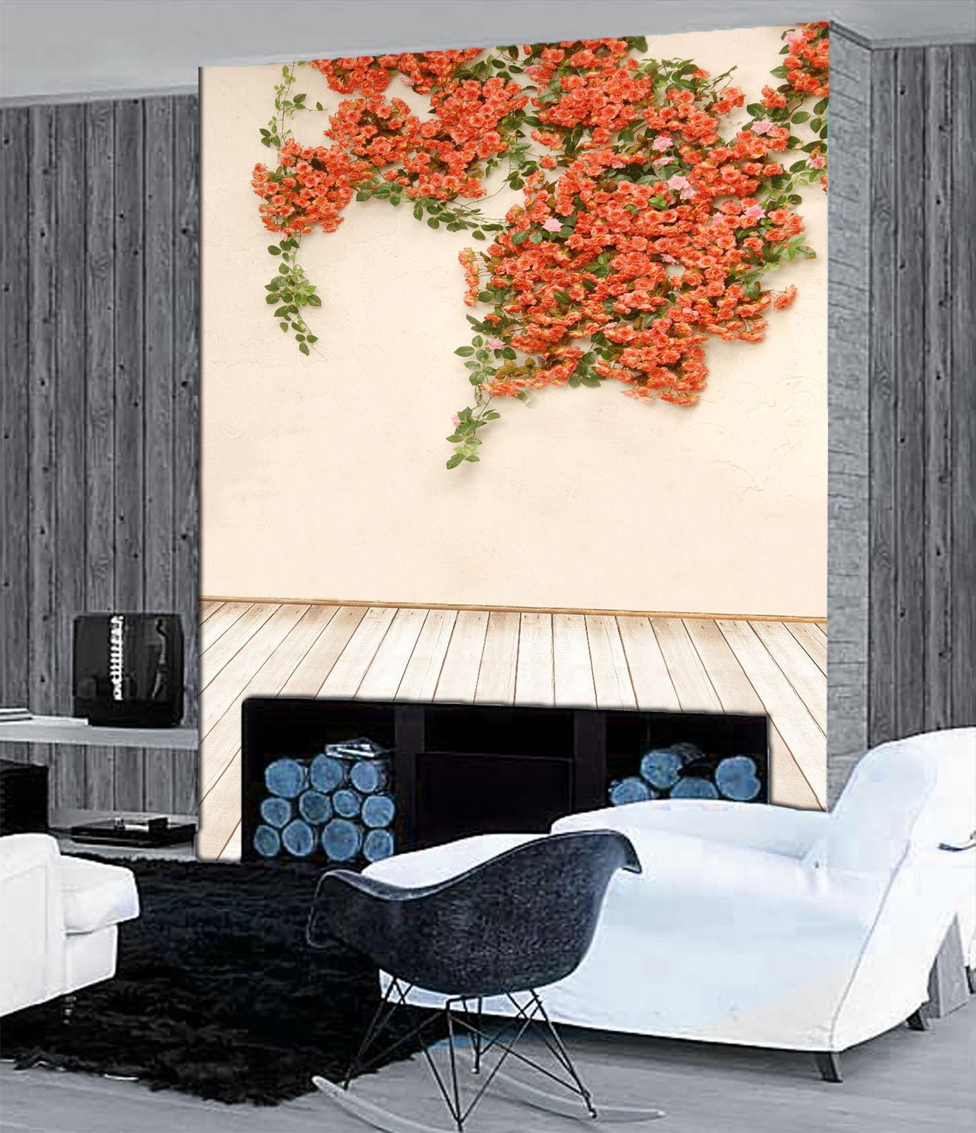 3D Vigne Fleur 211 Photo Papier Peint en Autocollant Murale Plafond Chambre Art