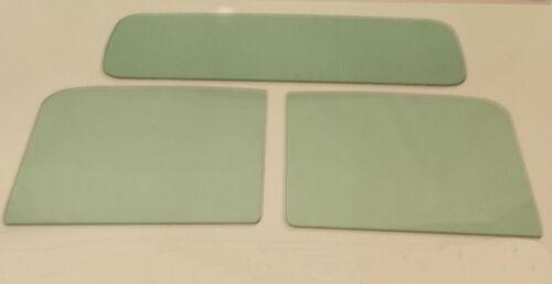 1941-1949 Diamond T Glass Windshield 2 Piece Door Rear Back Set T-201 Green