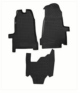 FORD-TRANSIT-2006-2012-Rubber-Car-Floor-Mats-FRONT-All-Weather-Alfombrillas-Goma