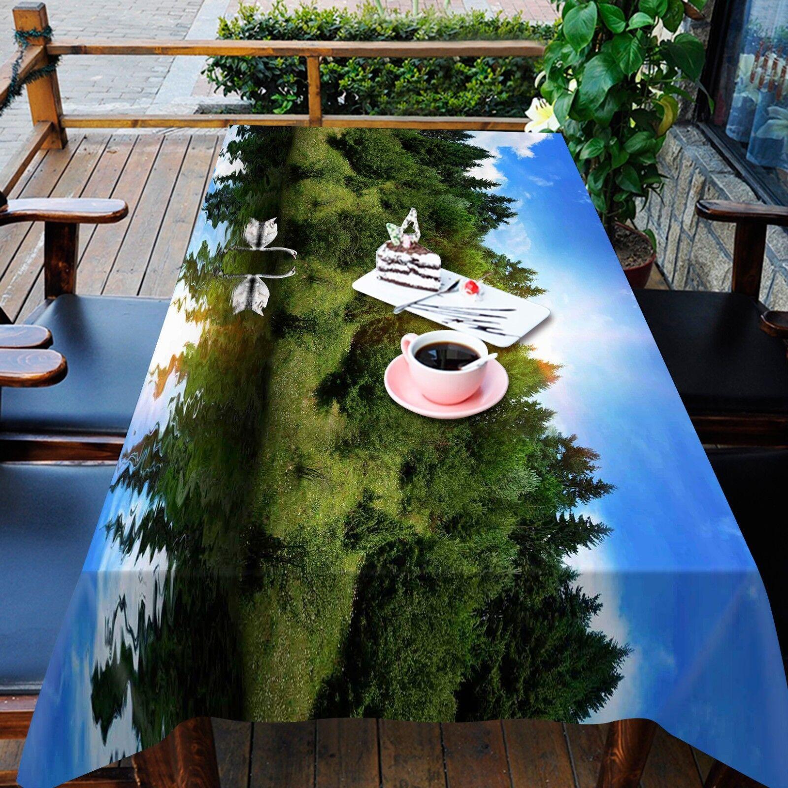 3D árbol cielo 80 Mantel Mantel Paño Fiesta de Cumpleaños Evento AJ Wallpaper
