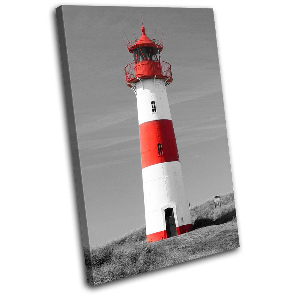 Lighthouse Landscapes SINGLE TOILE murale ART Photo Print