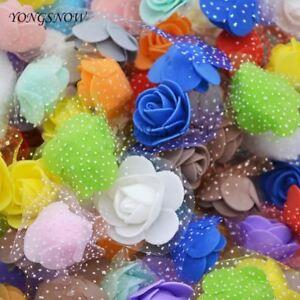 50Pcs-lot-3-5cm-Mini-PE-Foam-Roses-Multi-uso-cabezas-de-flores-artificiales-Hecho-a-Mano-Di