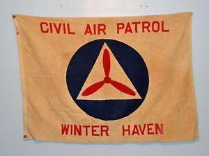 Vintage-US-Civil-Air-Patrol-Winter-Haven-FL-Squadron-Flag-CAP