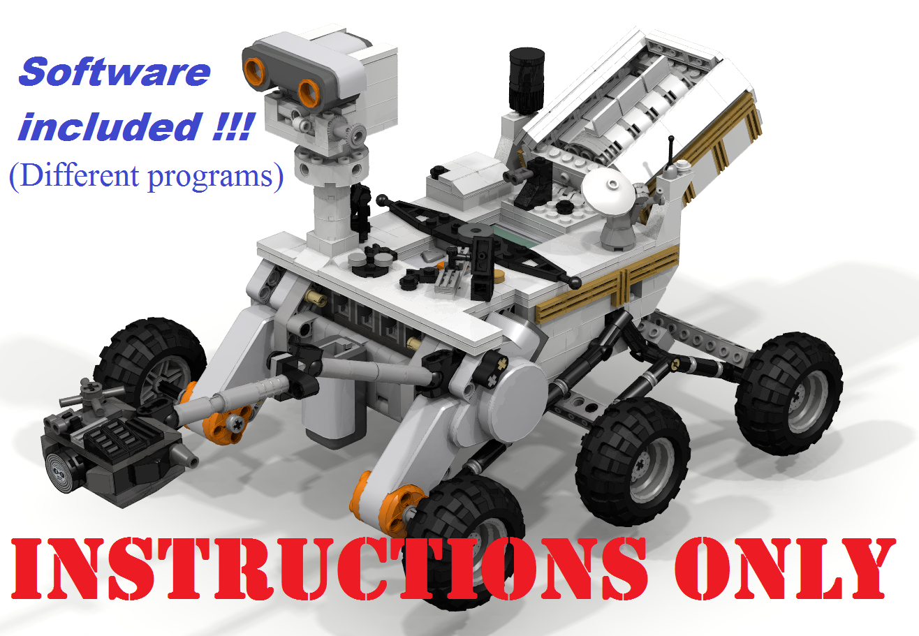 CUSTOM LEGO MINDSTORMS NXT. CURIOSITY ROVER MARS. INSTRUCTIONS ONLY ONLY ONLY + SOFTWARE 814af0