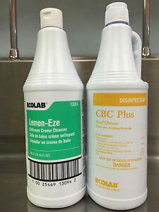 Ecolab Lemon Eze Bathroom Creme Cleanser Amp Cbc Plus Bowl