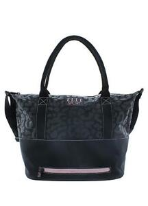 Black Pink Leopard Weekender Bag with Shoulder Strap Stylish by ELLE ... 380bcf7a135a7