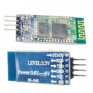 5PCS Wireless Serial 4Pin Bluetooth RF Transceiver Module HC-06 RS232+backplane